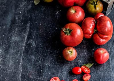 własne pomidory z ogródka w Zaścianku