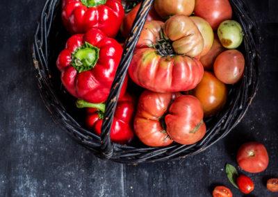 pomidory z wlasnego ogródka w Zaścianku