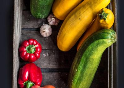 własne warzywa z ogródka w Zaścianku